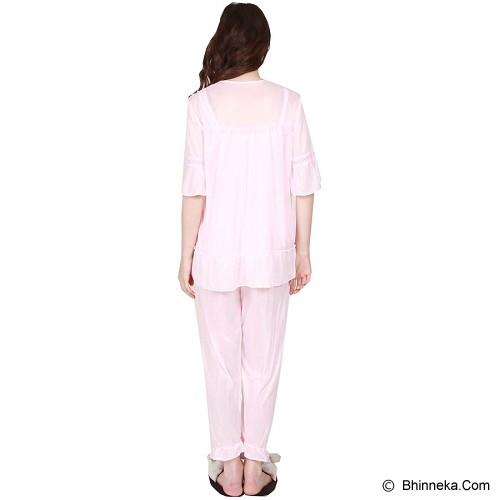 YOU'VE Aleana Lace Sleepwear [3233] - Pink - Baju Tidur Wanita Setelan